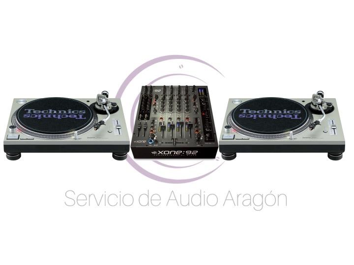Allen&Heath Xone 92 + 2x Technics SL1200 mkII